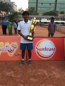 Dhanya Shah won U16 singles and doubles tennis title in AITA series at Kolkata