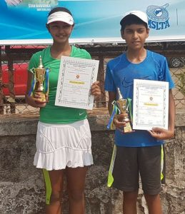 Pavitra Parikh & Vedansh Patel runner-up in the U14 singles tennis event series 7 in Mumbai