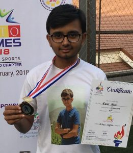 Rahil Shah Won the Bronze in JITO Games 2018 in U18 Singles Table Tennis