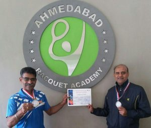 Anil Bhaskaran & Mahendra Chalani Won Medal in Gujarat State Veterans Table Tennis
