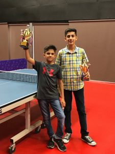 Rajpath Club Table Tennis Tournament Winners Dhyey Vachhani U12 singles winner. Meet Bavadia U15 singles winner. Tanmay Vachhani U17 singles winner. The Academy congratulates all the winners for their achievement. Play Like a Pro